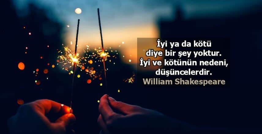 Kıyaslama ve sevgi olumlamaları iyi kötü düşünceler william shakespeare
