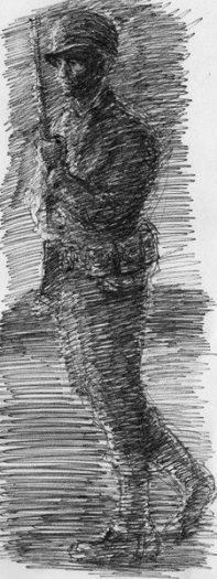 asker resim kara kalem anne