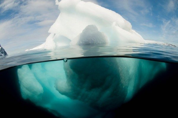 Antarctic peninsula iceberg Pleneau