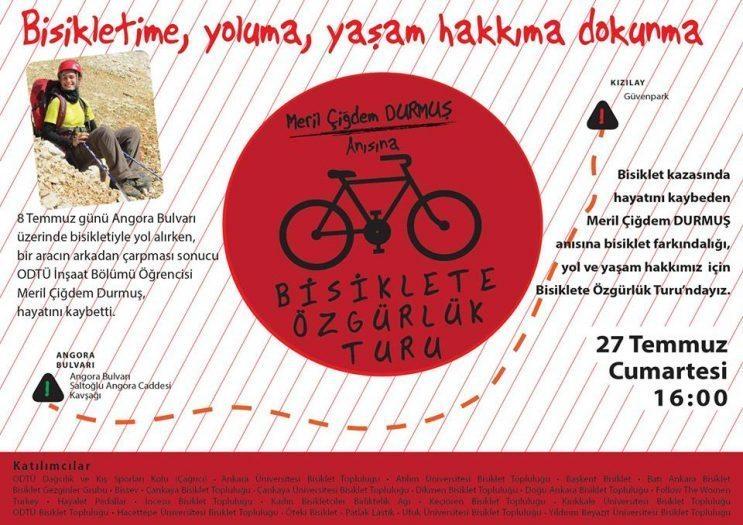 Bisiklete özgürlük turuna çağrı!