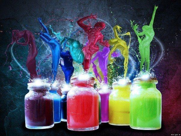 Ruh rengarenktir: Bedenimiz ışıldayan renklerle bezenmiş