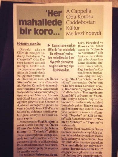 Cumhuriyet Gazetesi Haberi