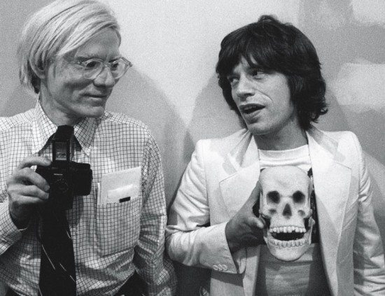 Andy Warhol ve Mick Jagger