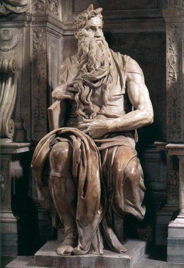 Michelangelo'nun Boynuzlu Musa Heykeli