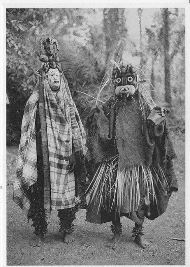 Nwanyioma denilen maskeler ile Maske Töreni 1931 Primitif (İlkel) Sanat