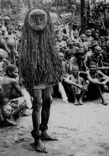 Ohaffia kabilesi Otili adlı Maske töreni Güney Nijerya Primitif (İlkel) Sanat