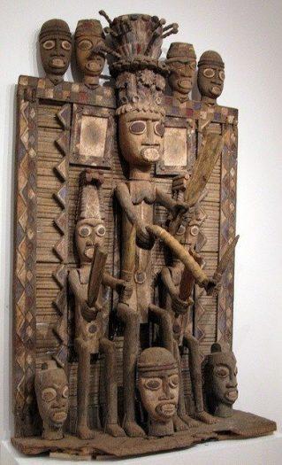 Nijerya Kaldırım Heykeli Tribal Galeri Primitif (İlkel) Sanat