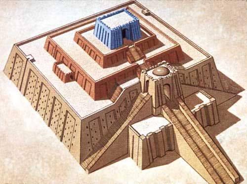 Ziggurat kroki çizimi sümer
