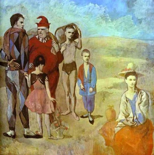 Picasso Pembe Dönem Çalışması Family of Saltim Banques