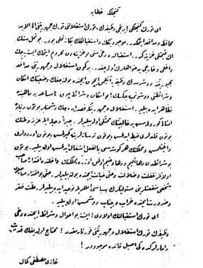 Gençliğe Hitabe Osmanlıca