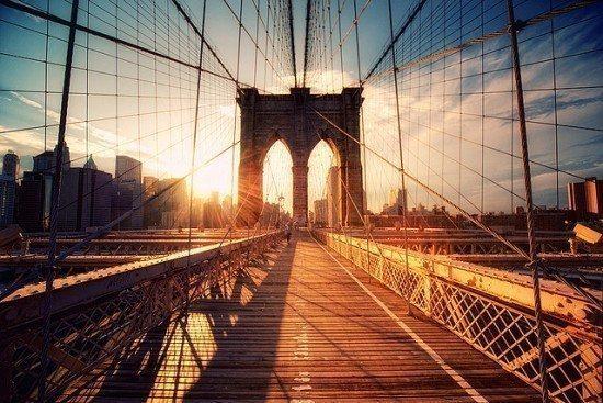 new york manhattan brooklyn köprüsü broadway