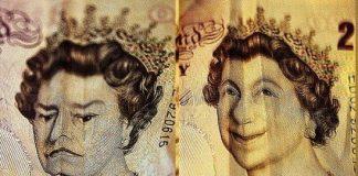 para mutlu mutsuz kraliçe elizabeth ingiliz sterlini para