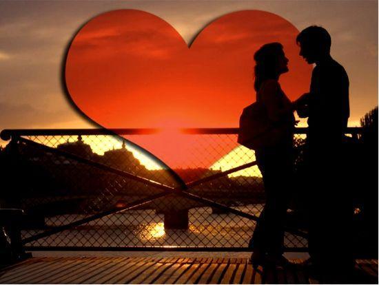 sevgililer günü aşk kalp çift evli gün batımı sevgililer sevgi sevgililer