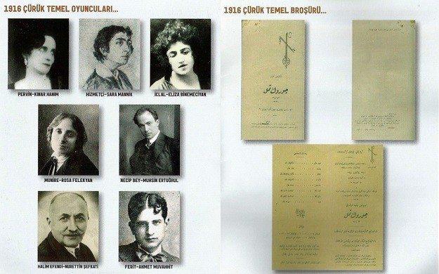 çürük temel 1916 oyuncular ve broşür