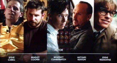 2015 Akademi Ödülleri En iyi Erkek Oyuncu Adayları