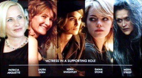 2015 Akademi Ödülleri En İyi Yardımcı Kadın Oyuncu Adayları