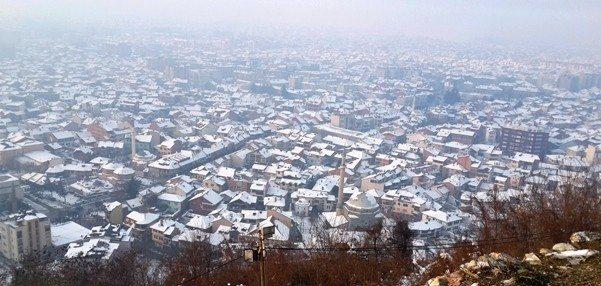 kosova Prizren Kaleden kenti manzarası