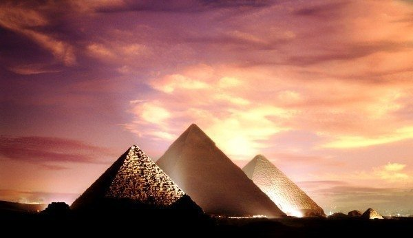 giza mısır piramitleri akşam