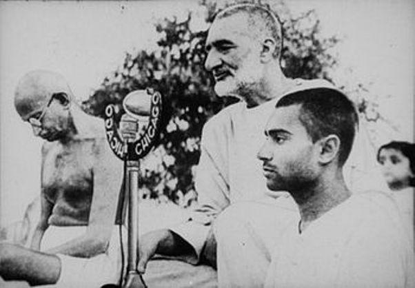 Gandhi ve Abdul Ghaffar Khan hindistan