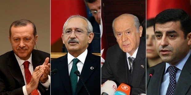 hdp mhp chp akp liderler oy genel seçimler