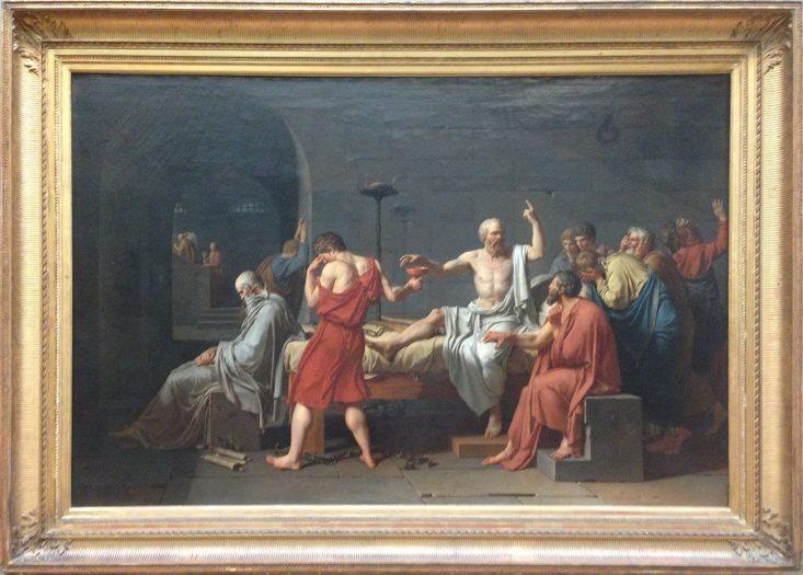 J. L. David'in Sokrates'in Ölümü tablosu-MET