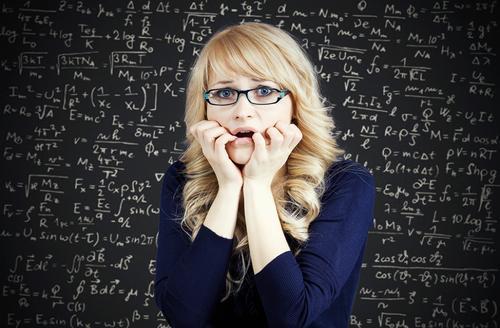matematik kadın tahta