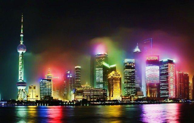 renklerin şehri şanghay çin