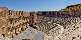 aspendos antik tiyatrosu restorasyon antalya