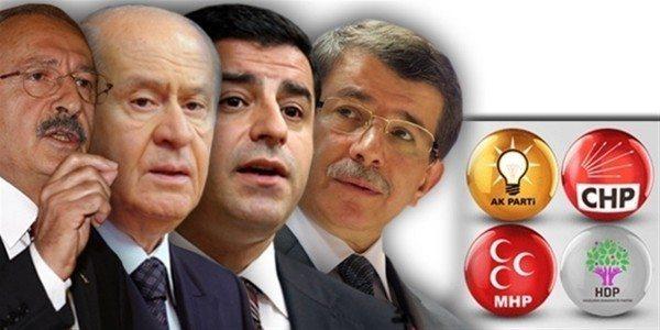dört parti kılıçdaroğlu bahçeli demirtaş davutoğlu sandığa gitmeyi unutmayalım sandığa koşalım