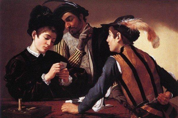 caravaggio kağıt oyunu oyunları iskambil