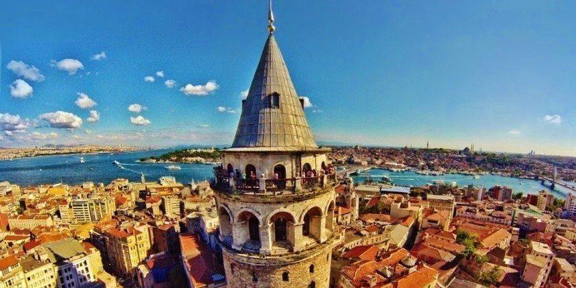 istanbul galata kulesi manzara gokdelenler