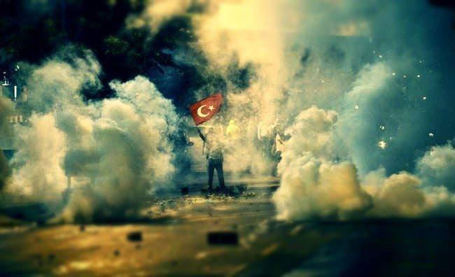 kutuplaşma politikası gezi parkı türk bayrağı