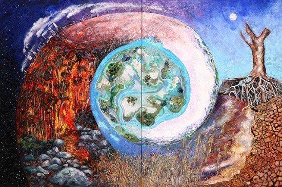 Tuval üstüne yağlıboya: Küresel Isınma ve Avustralya isimli tablo