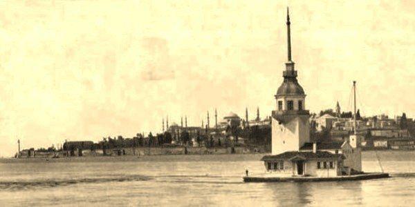 kiz kulesi osmanli istanbul eski istanbul fotograflari uskudar