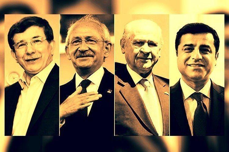koalisyon liderler muhteşem dörtlü davutoğlu kılıçdaroğlu bahçeli demirtaş seçim 1 kasım