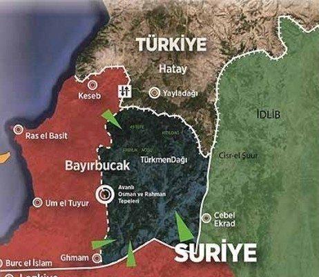 türkmen dağı bayır bucak harita turkmen dagi bayirbucak harita suriye bayir bucak