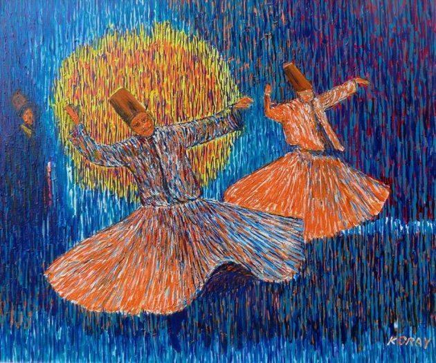 rifat koray gokan italya sergisi orzinuovi insan doğa yaşam sevinci sufi mevlana semazen öğreti sır