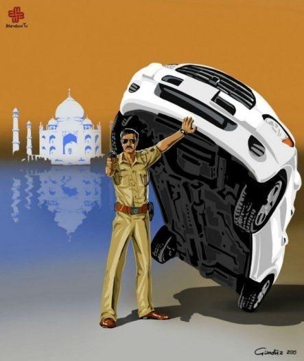 Hindistan polis gündüz ağayev