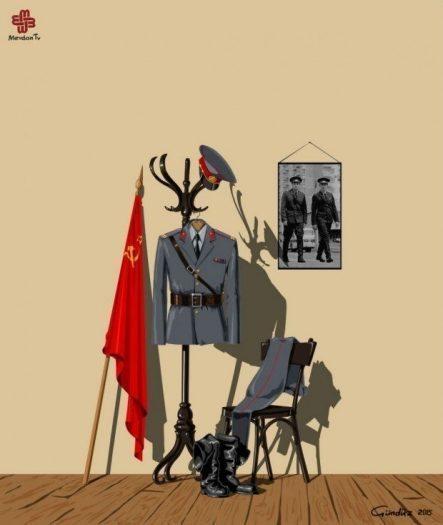 sscb sovyetler birliği sovyet rusya gündüz aghayev global police illüstrasyonları