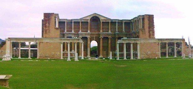 sardes sard gymnasium antik kent ören yeri ege bölgesinde gezilecek yerler