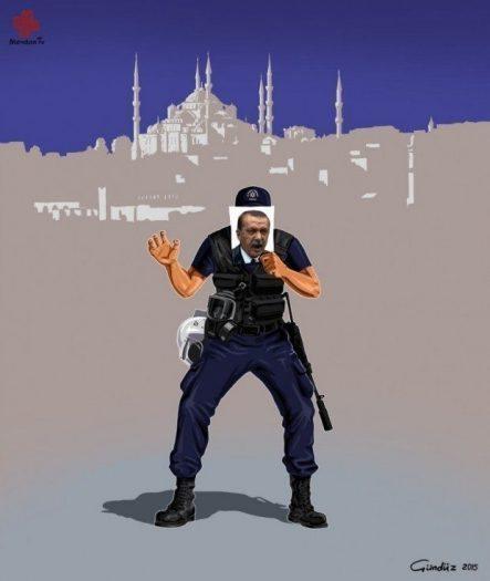 türkiye polis gündüz aghayev global police illüstrasyonları