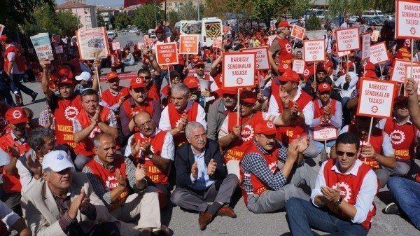 sendikalar sendikal haklar sendika yürüyüşü protesto iş bırakma grev hakkı