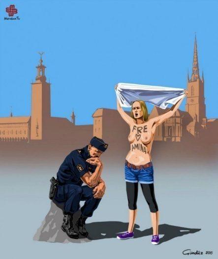 isveç Gunduz Aghayev global police illüstrasyonları polis