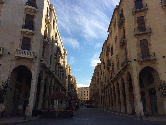 Beyrut sokakları taş binaları Beyrut mimari kültürel yapı