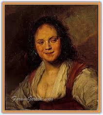 Mihri Hanım'ın Louvre Müzesi'ne kabul edilen ünlü Çnigene tablosu (kaynakça: indigodergisi.com).