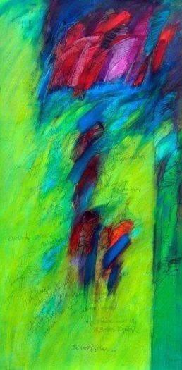 14-Heine ve Ben, 2014, tuval-yağlıboya, 152x75, 2014
