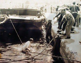 6. Filo Amerikan askerlerinin denizden çıkarılması