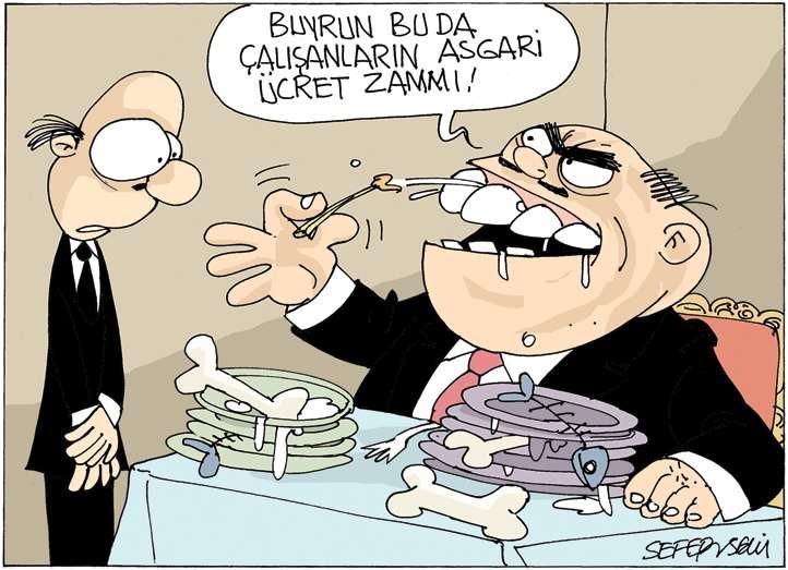 Asgari Ücret karikatür