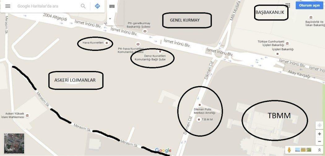 ankara patlama terör saldırısı devlet mahallesi harita