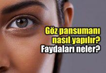 Göz pansumanı nasıl yapılır? Faydaları neler?